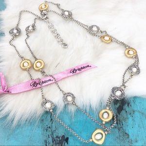 Brighton Satori Two Tone FWP Long Necklace